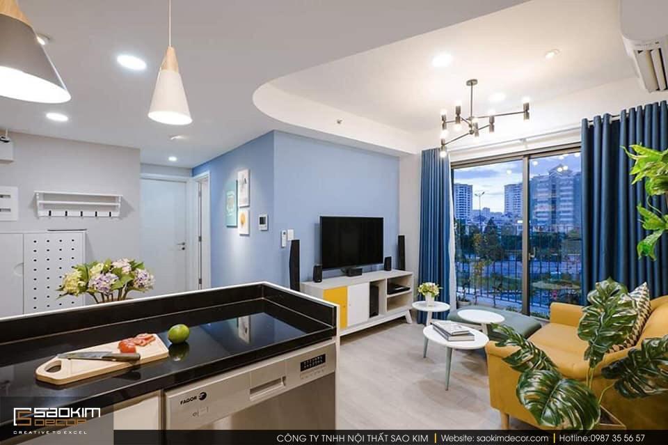 Thiết kế nội thất chung cư 2 phòng ngủ Tây Hồ Residence