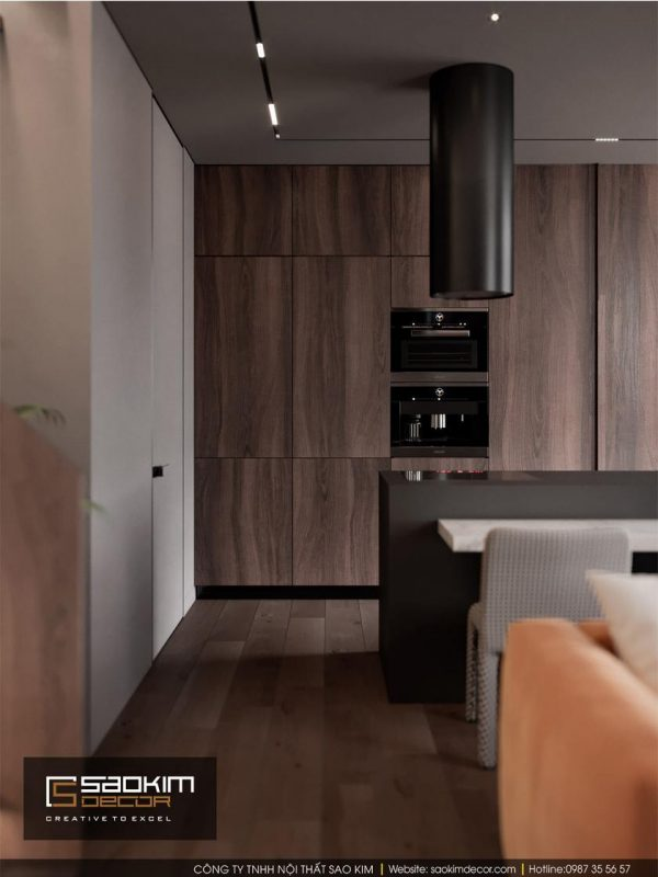 Thiết kế phòng bếp chung cư Hapulico Complex