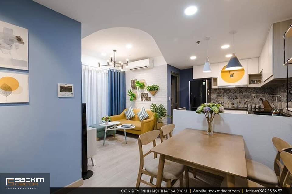 Thiết kế phòng bếp chung cư Tây Hồ Residence