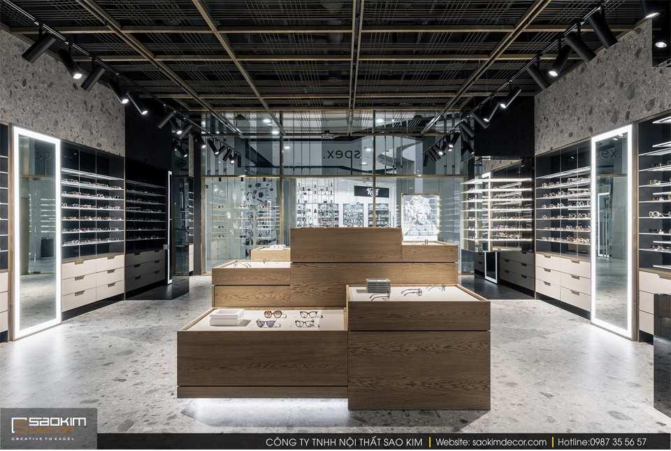 Thiết kế nội thất cửa hàng kính mắt Spex