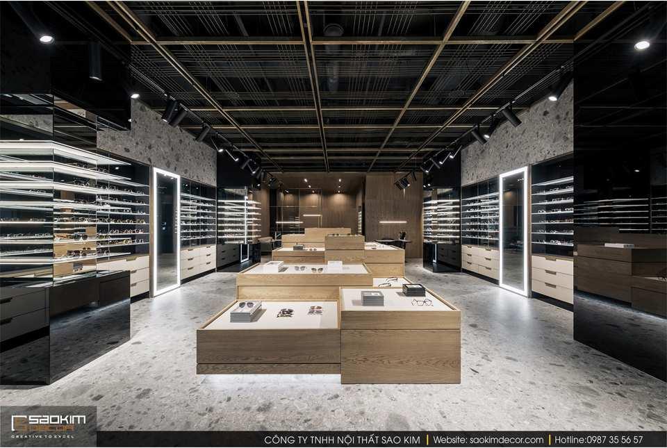 Thiết kế nội thất cửa hàng đẹp - cửa hàng kính mắt Spex