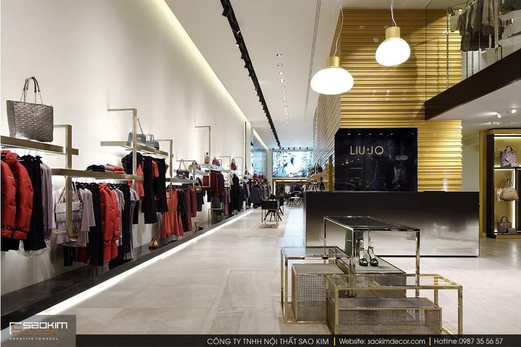 Thiết kế nội thất shop đẹp Liu.jo