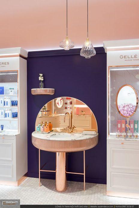 Thiết kế nội thất showroom cửa hàng mỹ phẩm Gellé Prères