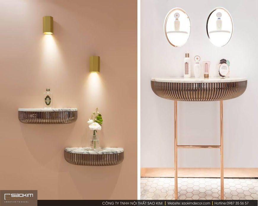 Thiết kế showroom mỹ phẩm Gellé Prères