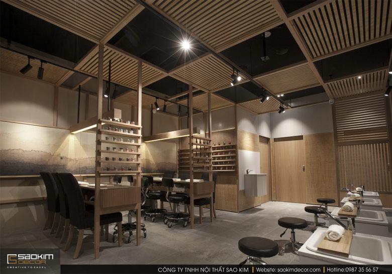 Thiết kế nội thất spa phong cách Rustic