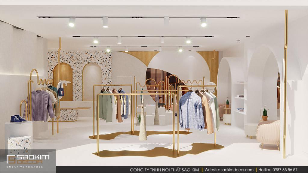 Thiết kế shop thời trang nữ kiêm cửa hàng cafe