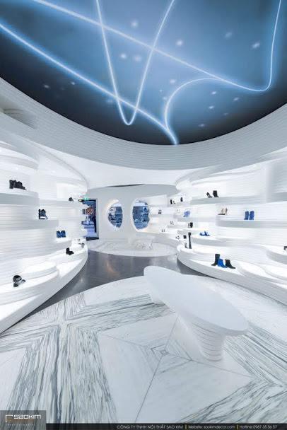 Thiết kế showroom giày dép