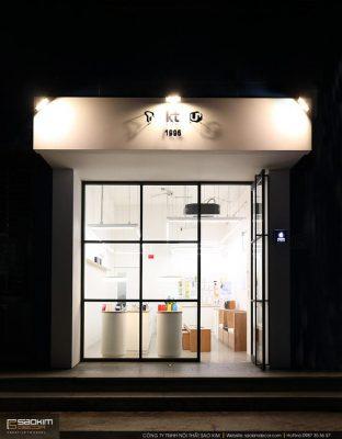 Thiết kế showroom điện thoại Huawei