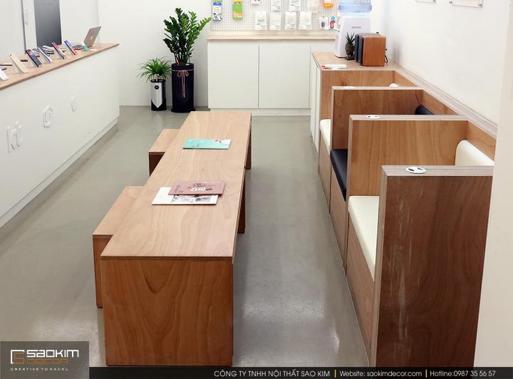 Thiết kế nội thất showroom điện thoại Huawei