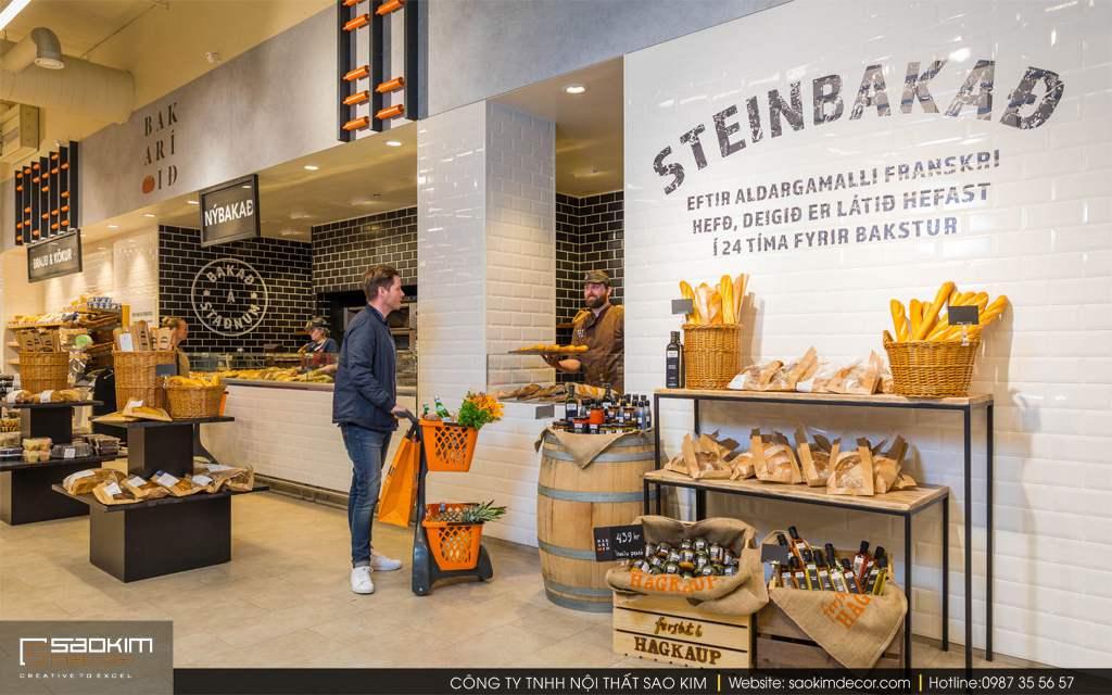 Thiết kế nội thất siêu thị Hagkaup