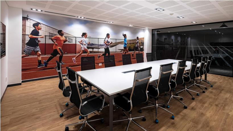Thiết kế văn phòng hiện đại Nike