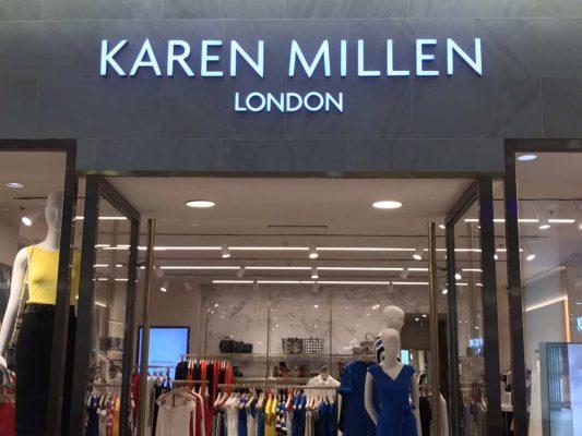 Thiết kế showroom thời trang nữ Karren Millen