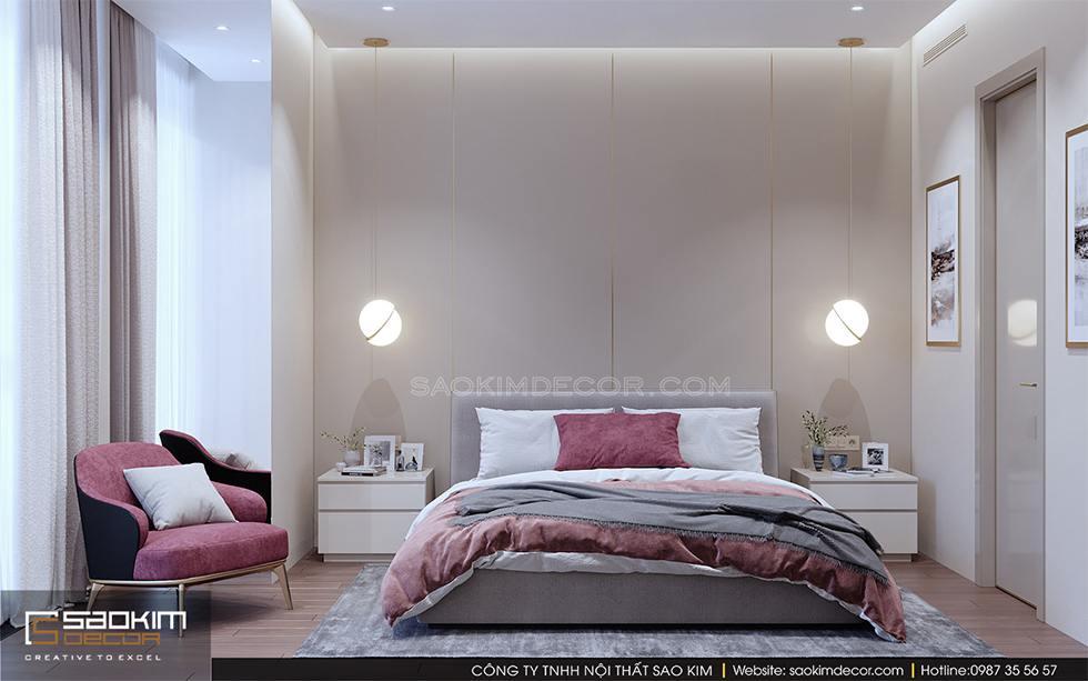 Thiết kế phòng ngủ chung cư master Royal City