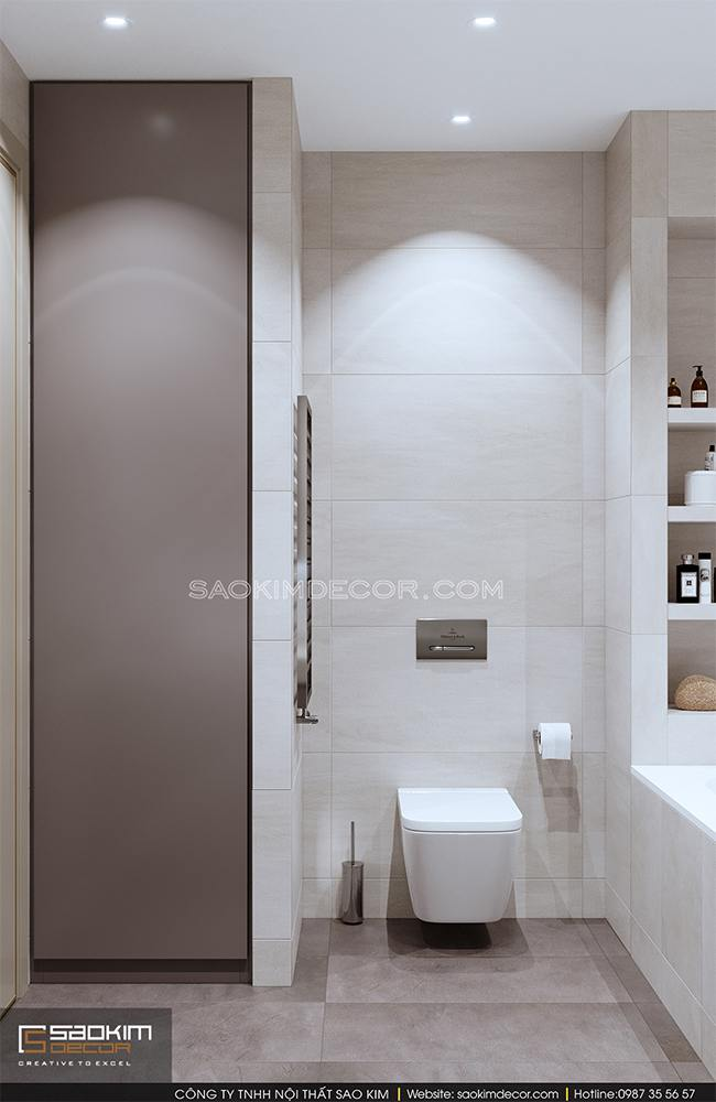 Thiết kế phòng tắm chung cư Royal City
