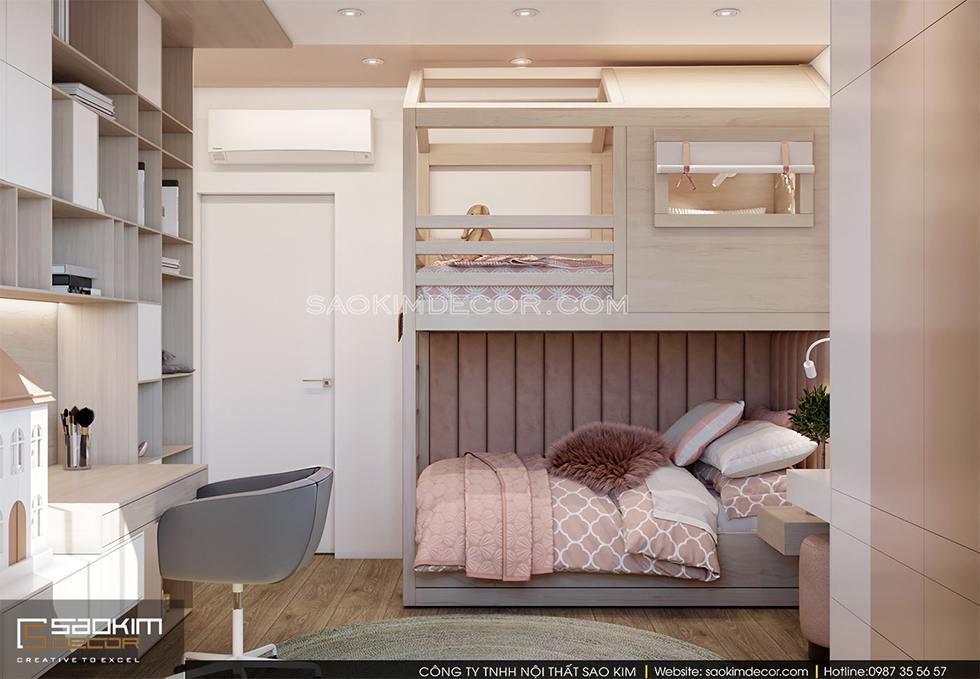 Thiết kế phòng ngủ chung cư bé gái Royal City