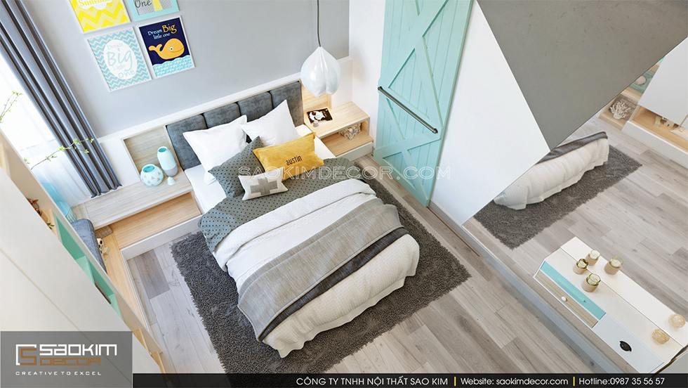 Thiết kế phòng ngủ chung cư bé trai Royal City