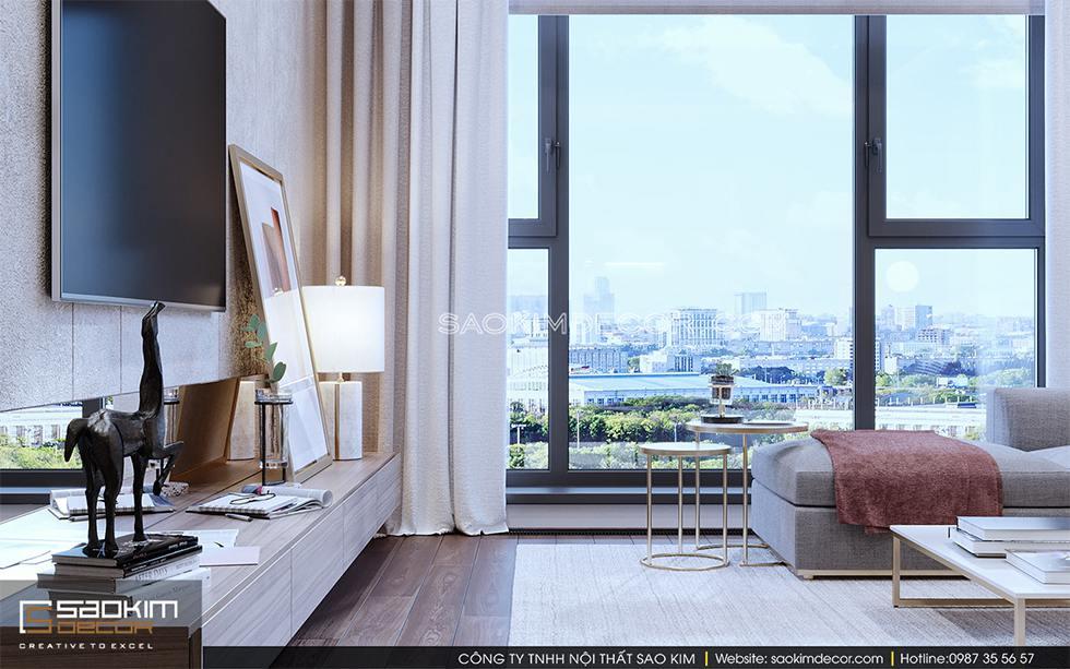 Thiết kế chung cư 3 phòng ngủ Royal City