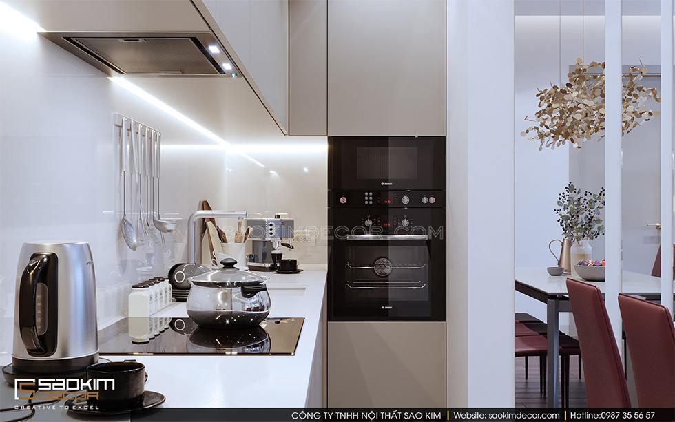 Thiết kế phòng bếp chung cư Royal City