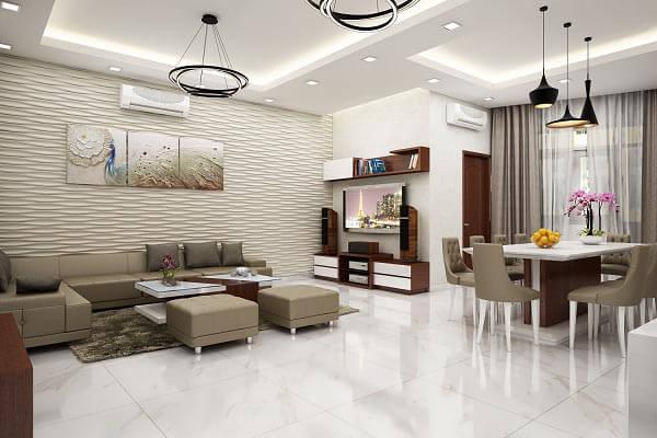 Các mẫu chung cư cao cấp đầy đủ tiện nghi thông minh, hiện đại giúp gia đình tận hưởng sự thư giãn hơn từ không gian.