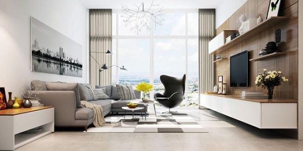 Khi thiết kế nội thất chung cư cần cân nhắc đến diện tích không gian và lựa chọn phong cách phù hợp nhất.