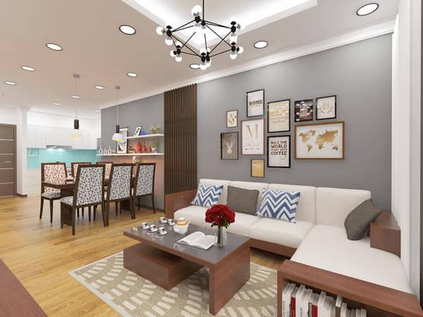 Không gian chung cư được trang hoàng vừa hiện đại lại thân thuộc và đầm ấm