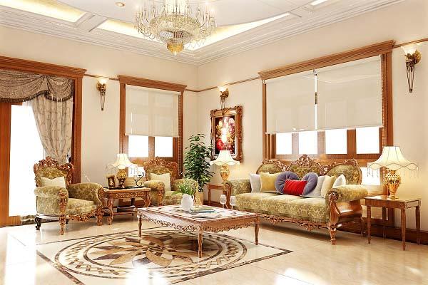 Mẫu thiết kế nội thất chung cư theo phong cách tân cổ điển mang đậm chất châu Âu