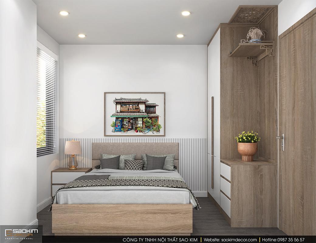 Thiết kế phòng ngủ chung cư Sky Central
