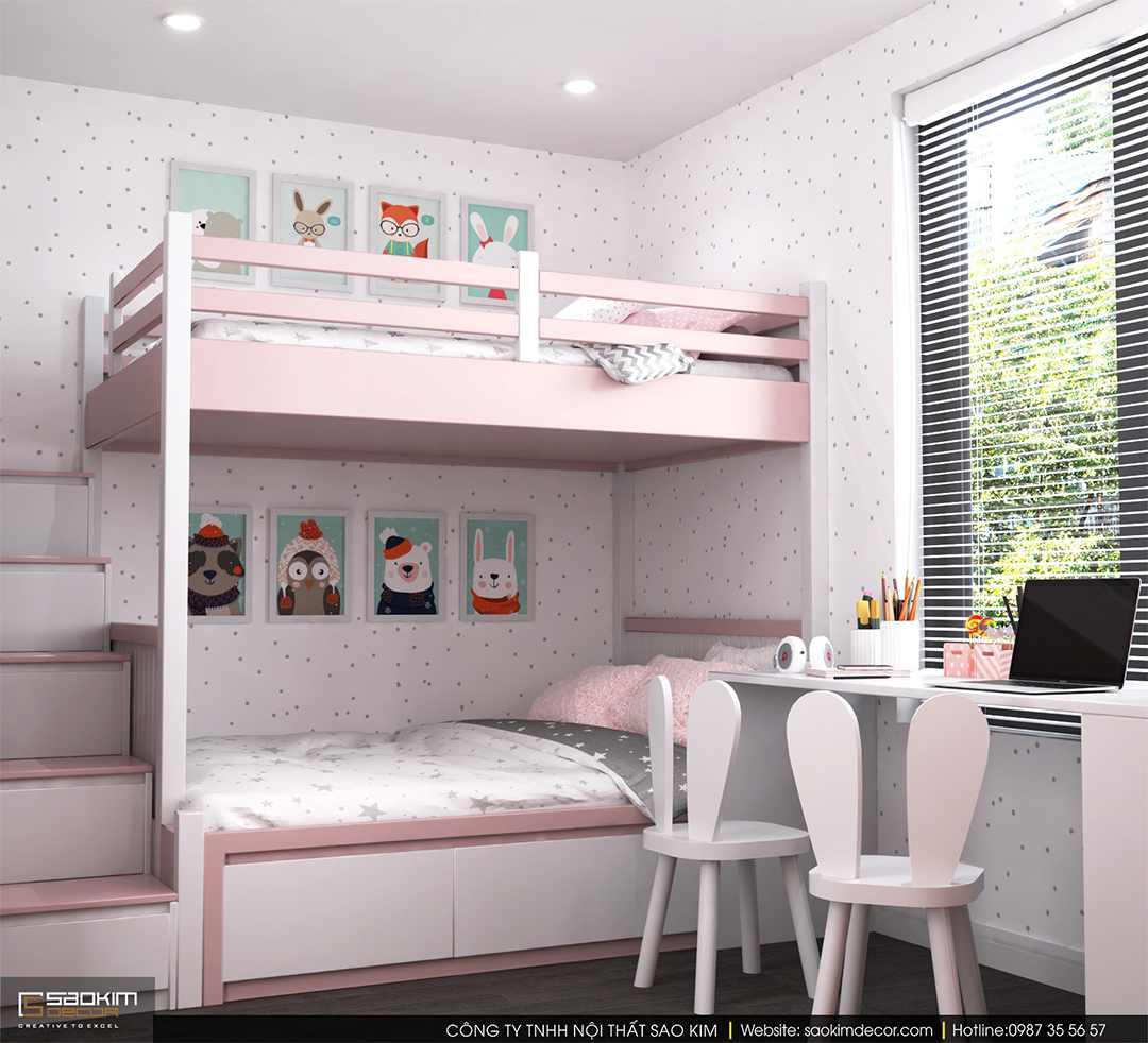 Thiết kế phòng ngủ chung cư cho bé - chung cư Sky Central