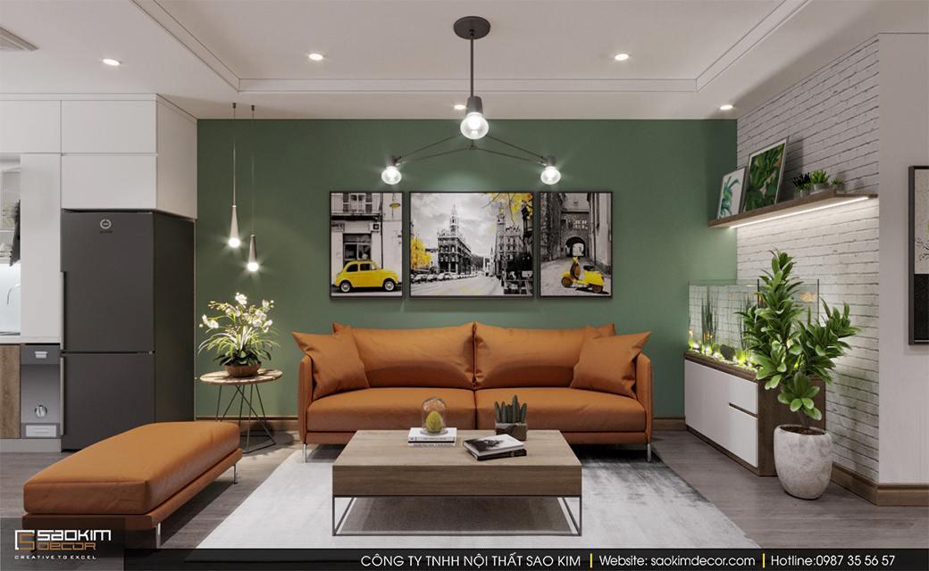 Thiết kế nội thất chung cư 3 phòng ngủ Sky Central