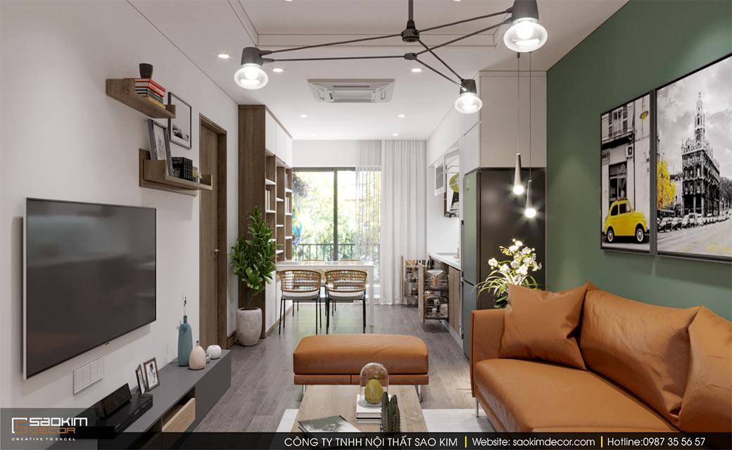 Thiết kế nội thất chung cư scandinavian Sky Central