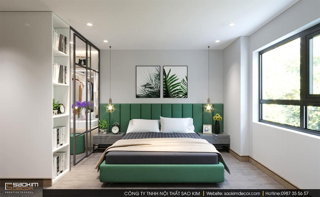 Thiết kế phòng ngủ chung cư scandinavian Sky Central
