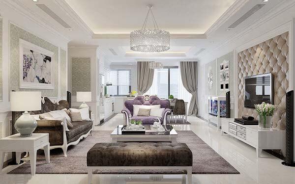 Thiết kế chung cư theo phong cách Châu Âu vô cùng sang trọng