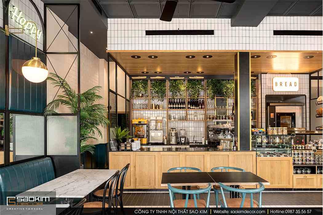 Thiết kế cửa hàng cafe bánh