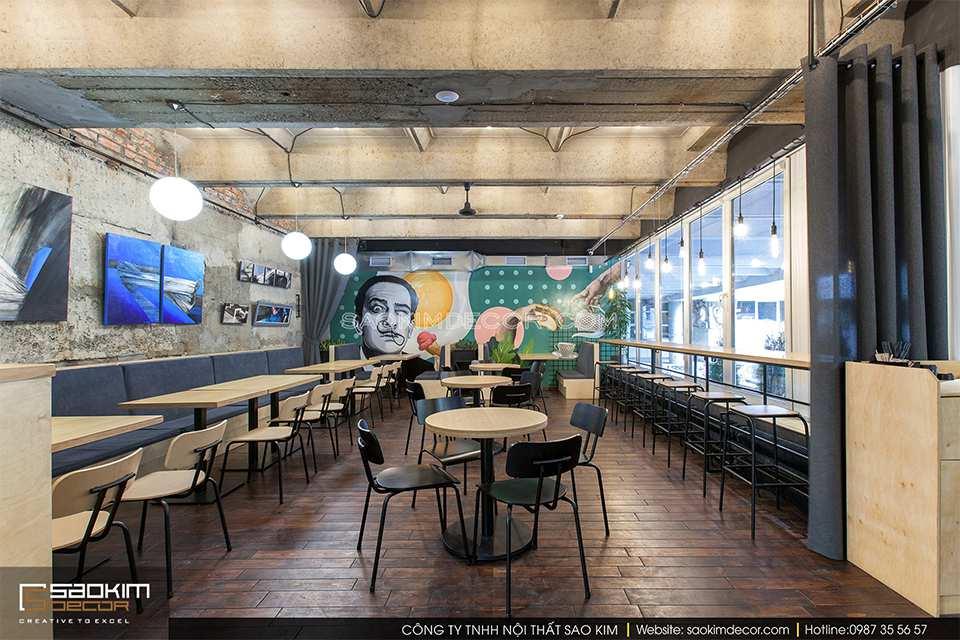 Thiết kế cửa hàng cafe Macrom