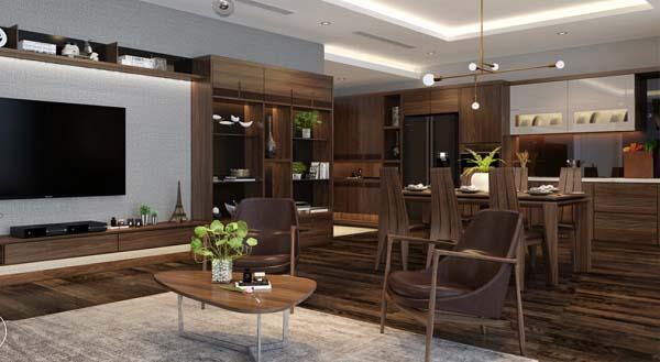 Thiết kế nội thất chung cư theo phong cách vừa hiện đại vừa cổ điển
