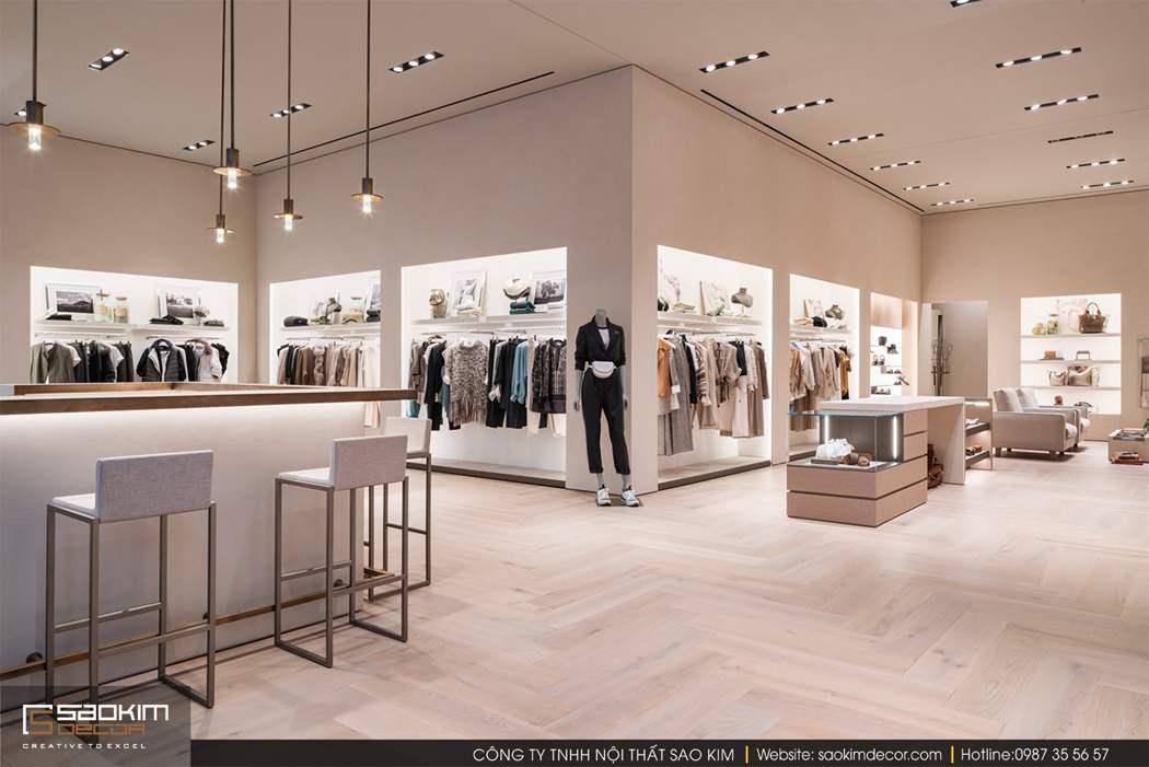 Thiết kế nội thất shop đẹp Brunello Cucinelli