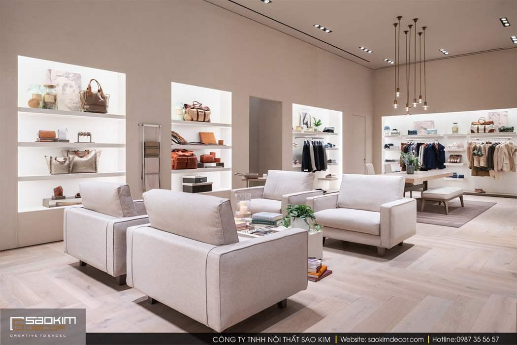 Thiết kế shop thời trang Brunello Cucinelli
