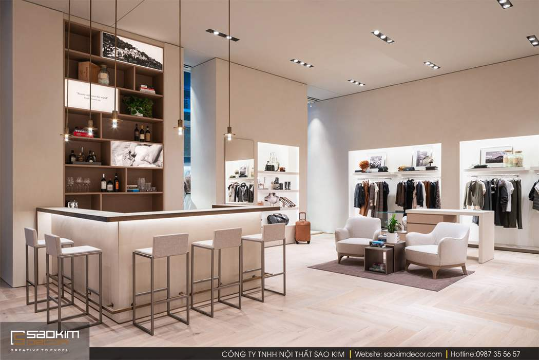 Thiết kế nội thất shop thời trang Brunello Cucinelli
