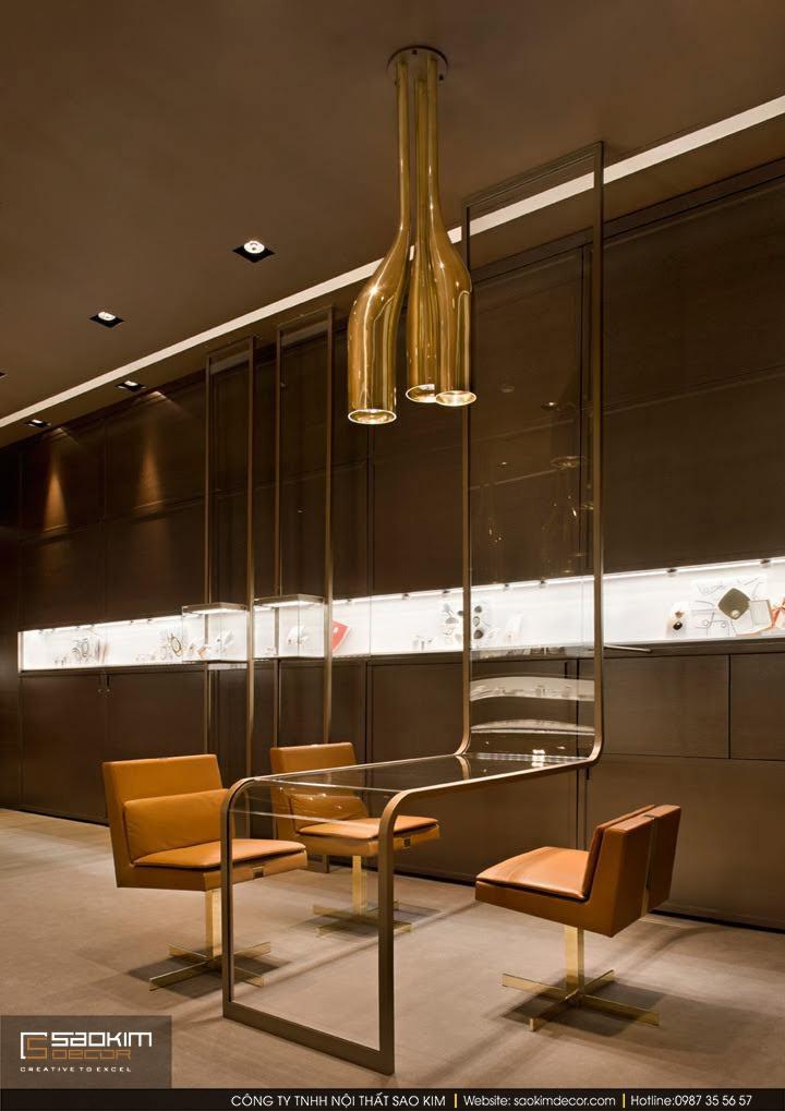 Thiết kế nội thất showroom trang sức