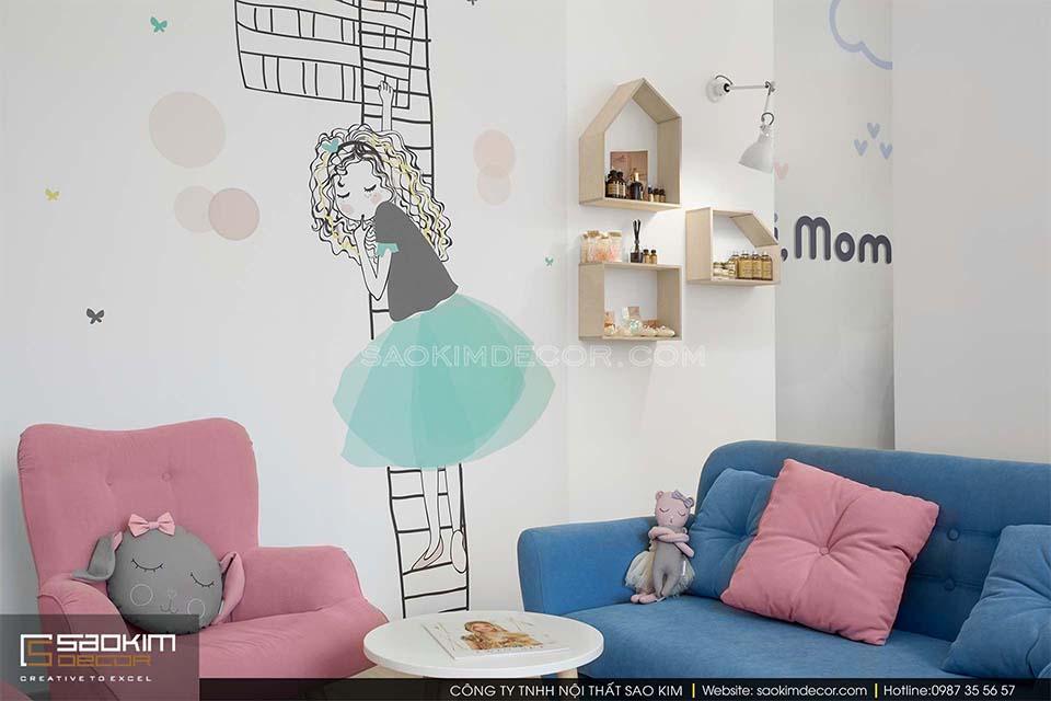 Thiết kế siêu thị mini mẹ và bé Hi, mom
