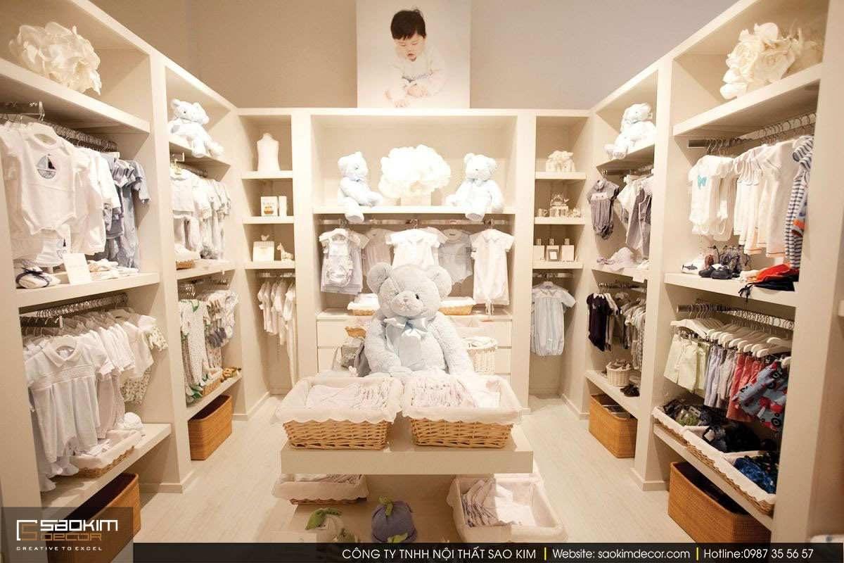Thiết kế nội thất siêu thị mini mẹ và bé