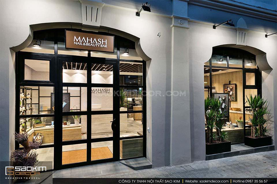 Thiết kế tiệm nail spa Mahash