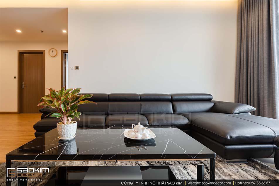 Thiết kế phòng khách chung cư Vinhome Metropolis Liễu Giai