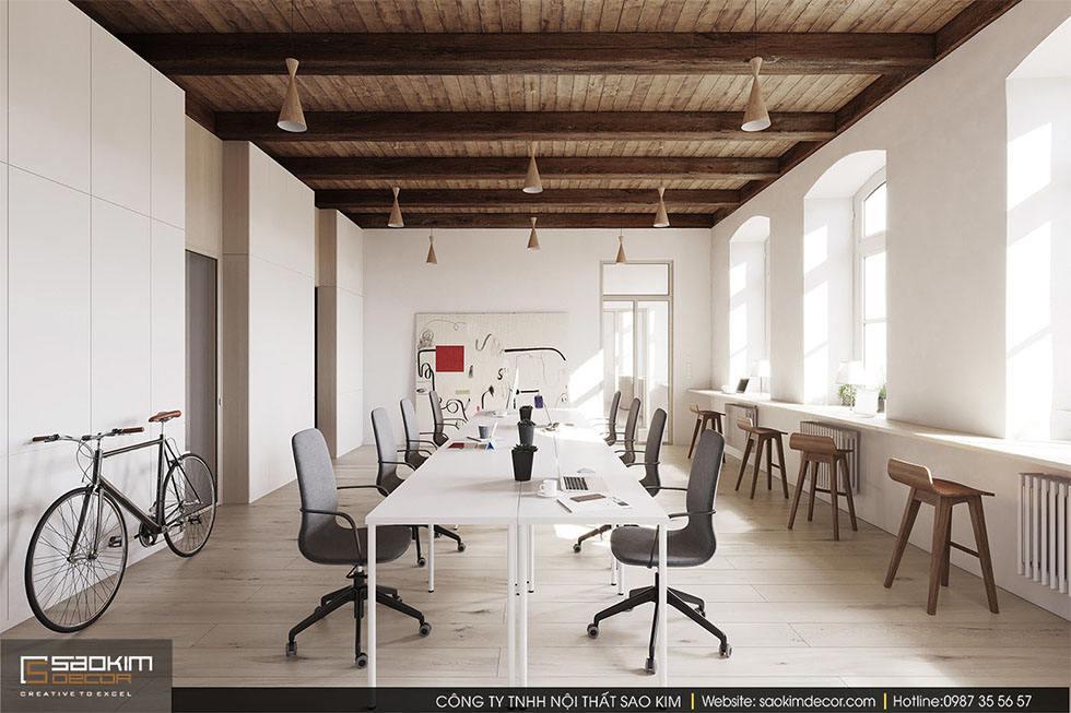 Mẫu thiết kế nội thất phòng làm việc hiện đại