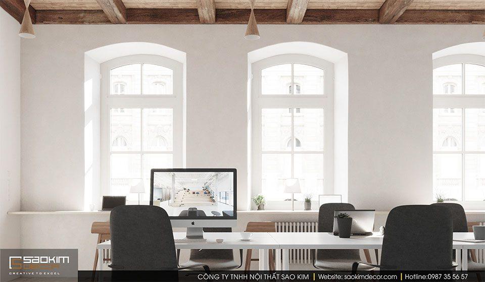 Thiết kế văn phòng làm việc hiện đại công ty Visualisation