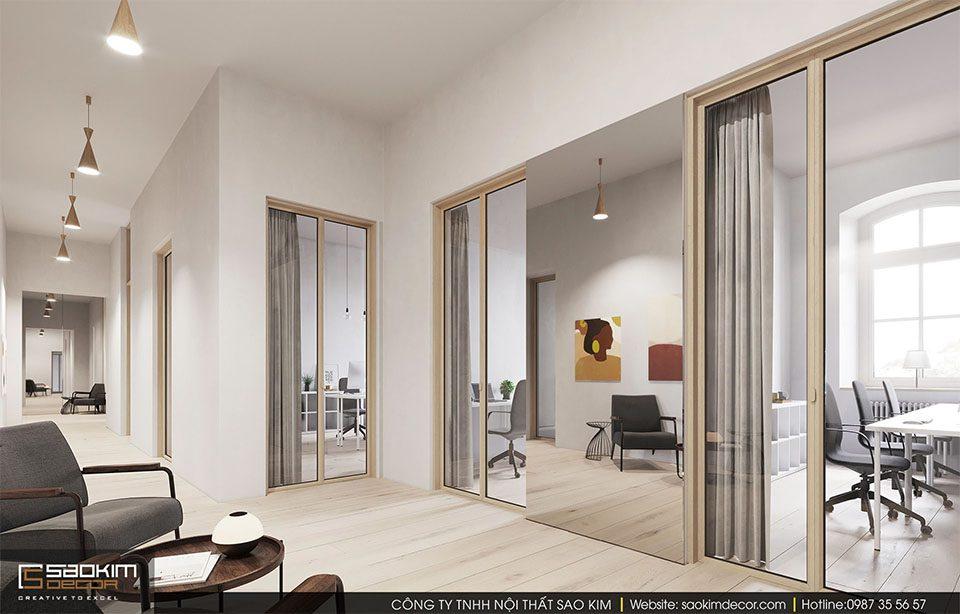 Thiết kế nội thất văn phòng hiện đại công ty Visualisation