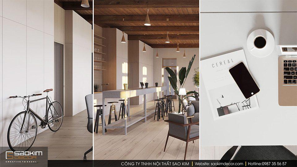 Thiết kế văn phòng xanh công ty Visualisation