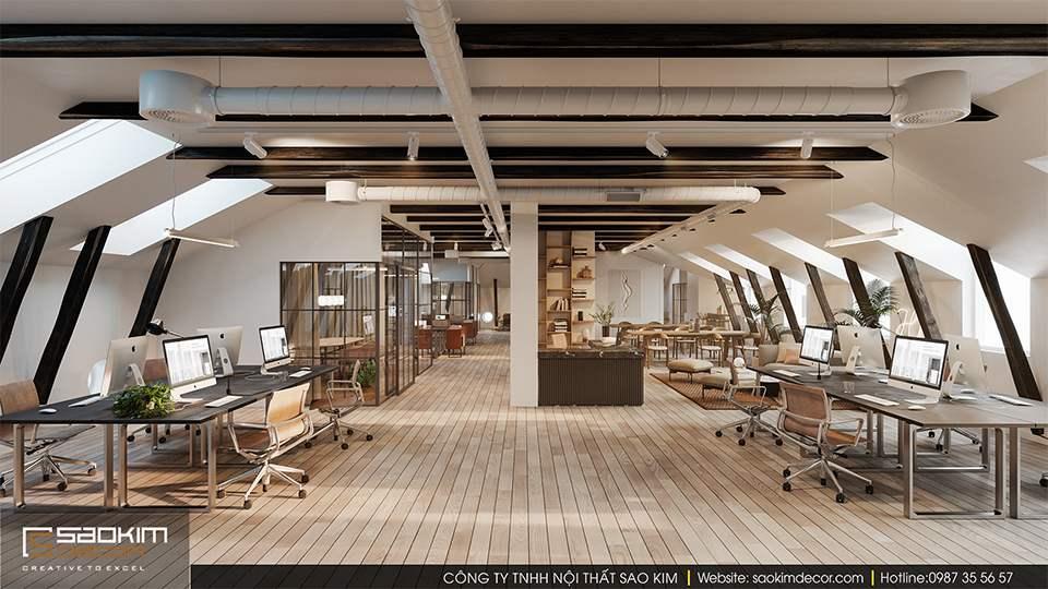Thiết kế văn phòng xanh công ty Malno