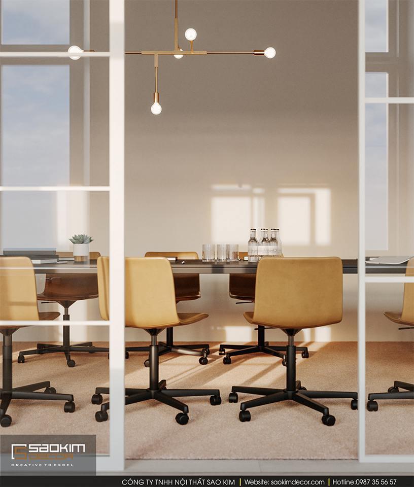 Thiết kế nội thất văn phòng hiện đại công ty Malno