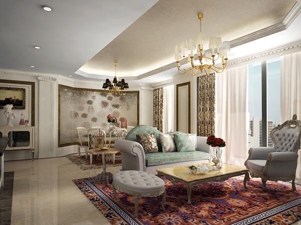 Xu hướng chung cư theo phong cách tân cổ điển đẹp và ấn tượng, đậm chất hoàng gia và đẳng cấp quý tộc.
